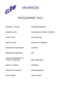 Clv 2017 programme des activites