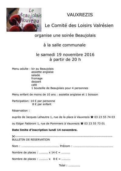 Soiree beaujolais 19 11 2016